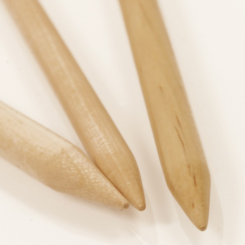 Breinaalden zonder kop  8mm 20 cm - berk
