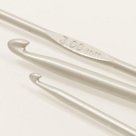Drops haaknaald 2.5mm - 13 cm - aluminium