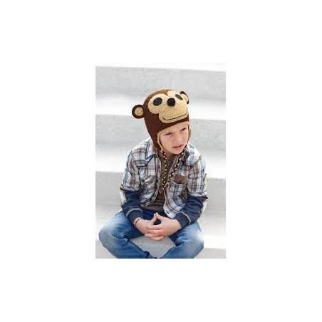 Katia Monkey Cap Brown