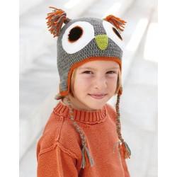 Katia Owl Cap Grey