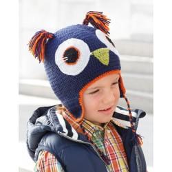 Katia Owl Cap Blue