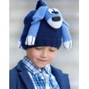 Dog scarf Katia blue/navy blue
