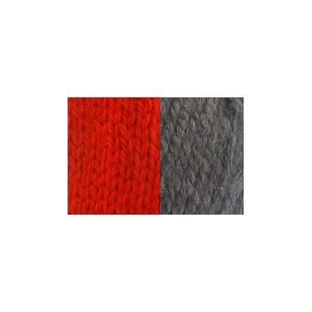 Dog scarf Katia red/grey