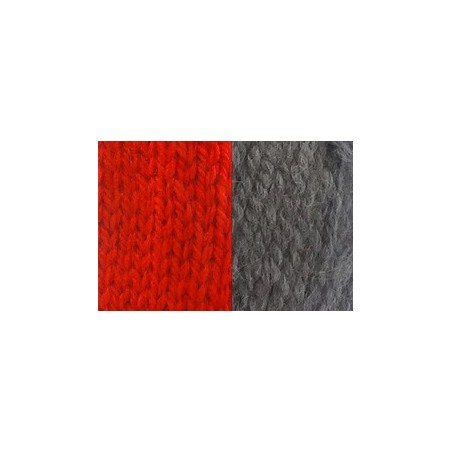 Dog scarf Katia red/grey