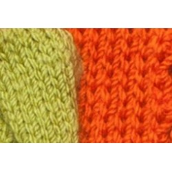 Dog scarf Katia green/orange
