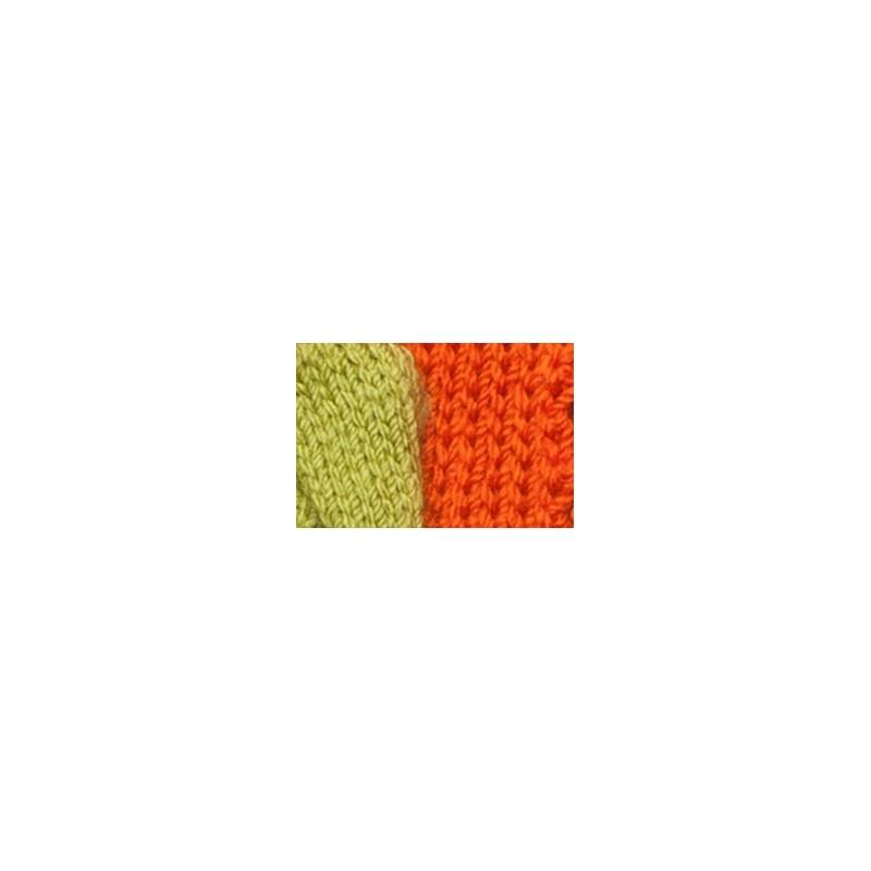 Dog scarf Katia green/orange