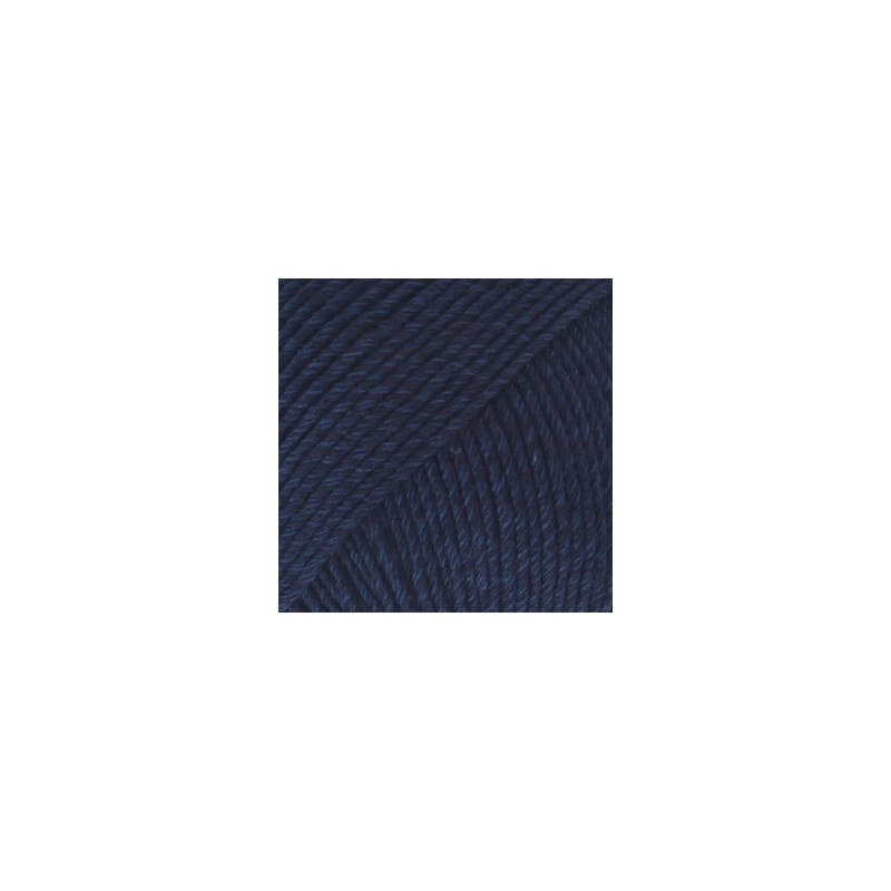Drops Cotton Merino 08 - marineblauw