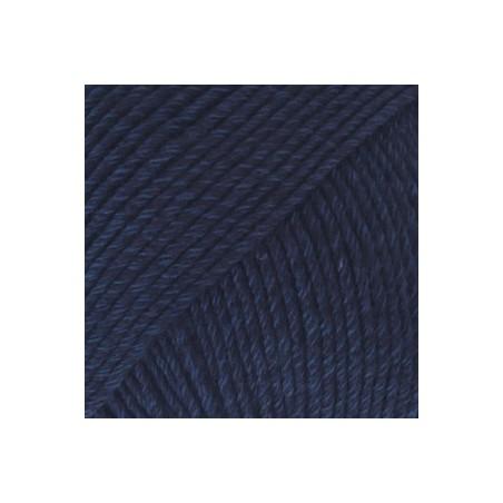 Drops Cotton Merino 08 - marineblauw