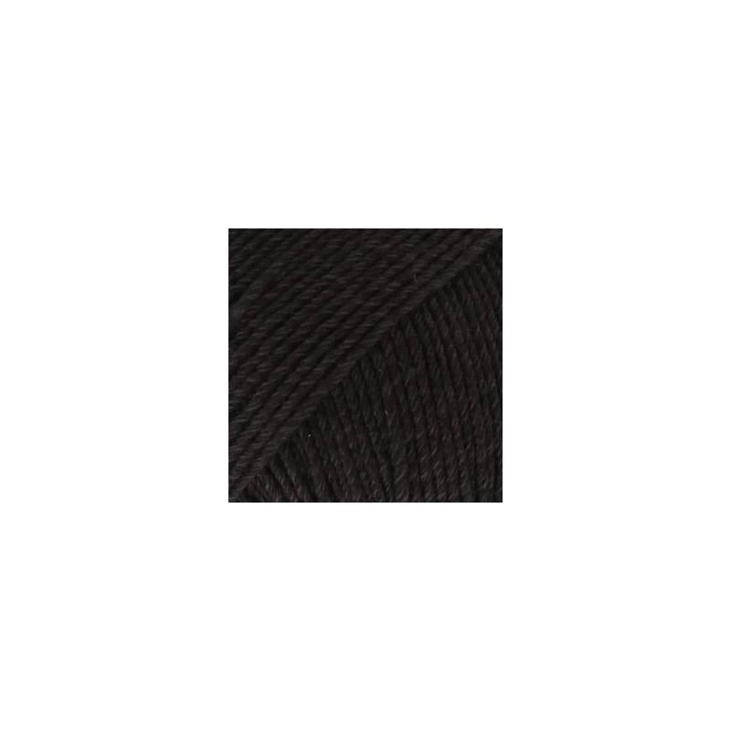 Drops Cotton Merino 02 - zwart