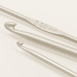 Drops häkelnadeln 2.0mm - 13 cm - aluminium
