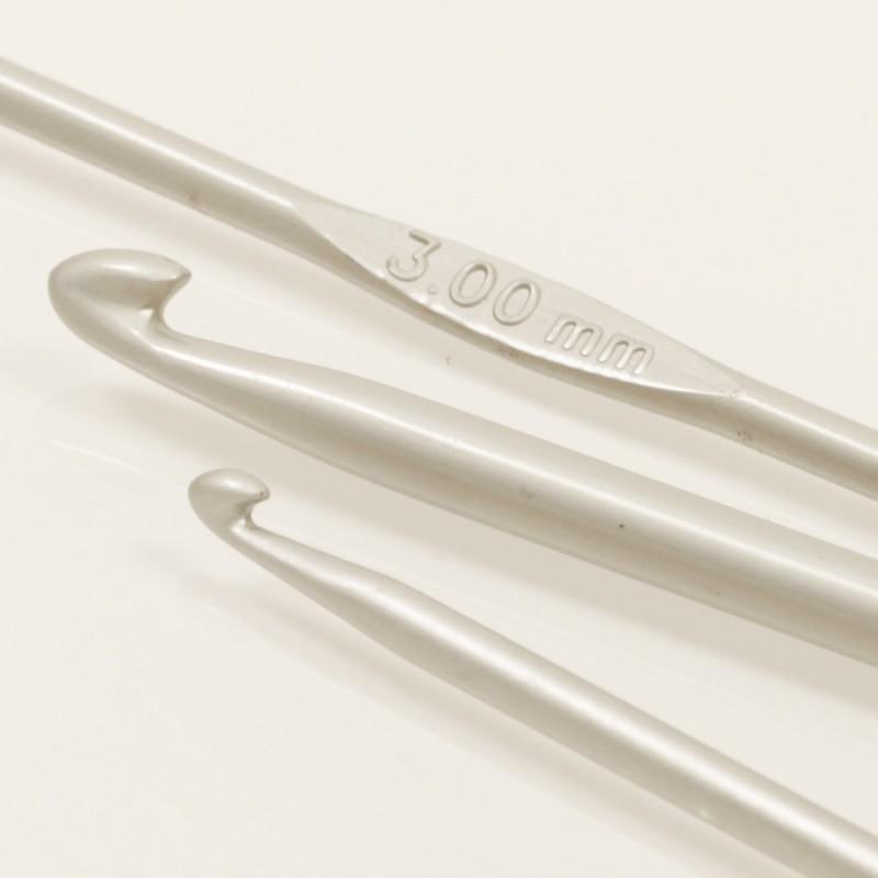 Drops häkelnadeln 2.5mm - 13 cm - aluminium