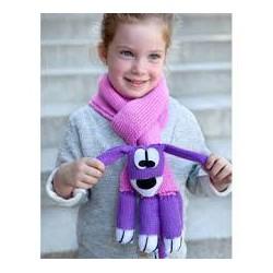 Dog scarf Katia pink/purple