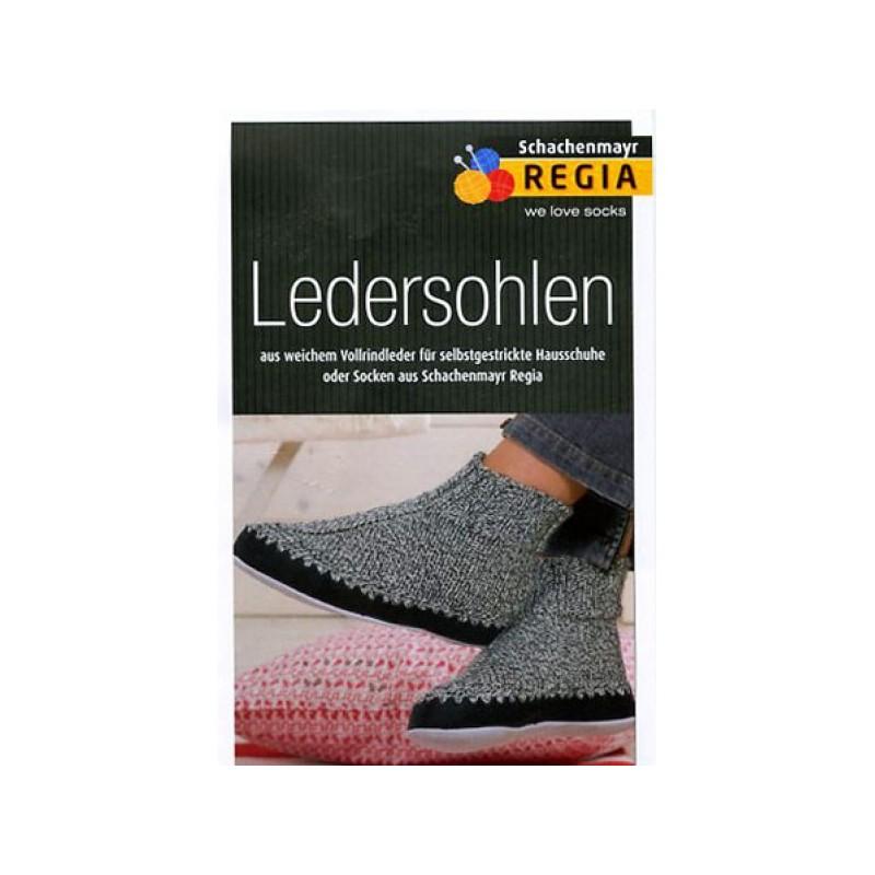 Schachenmayr Regia leather soles sz 34-35 black - 1 pair