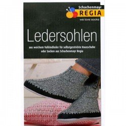 Schachenmayr Regia leather soles sz 40-41 black - 1 pair