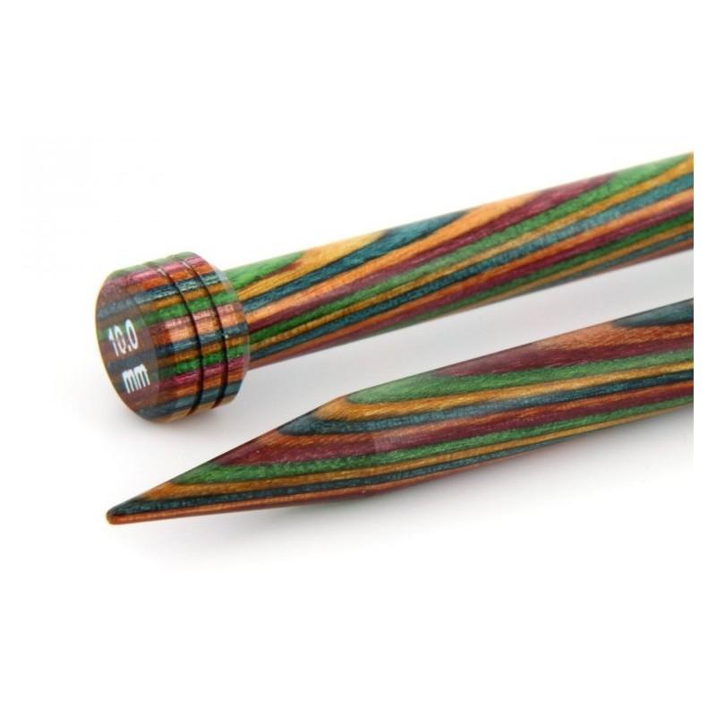 KnitPro Single Point Needle  Wood - 35cm - 4mm