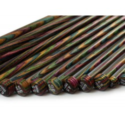 KnitPro Single Point Needle  Wood - 35cm - 6.5 mm