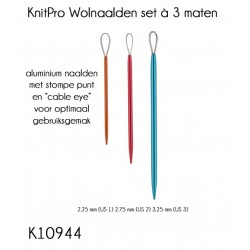 KnitPro Wool Needles -set of 3