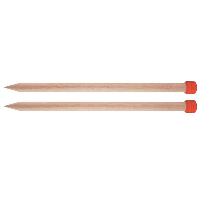 KnitPro Single pointed needles 12 mm 40 cm - birch