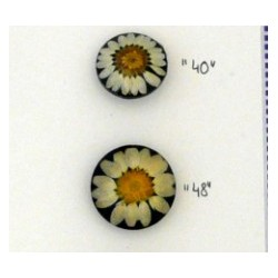 Button with real flower - 28mm