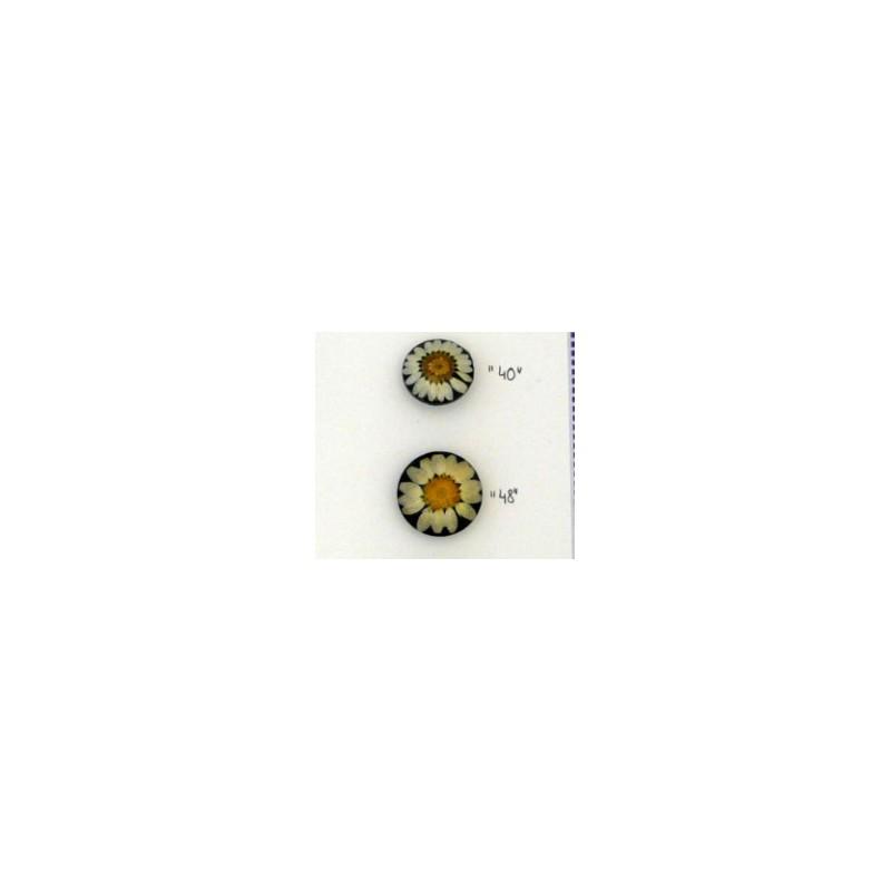 Marguerite fleur résine - 28mm