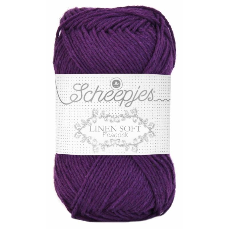 Scheepjes Linen Soft 602 - dark purple