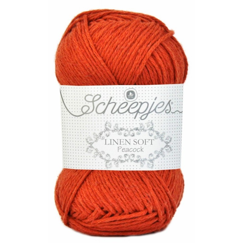 Scheepjes Linen Soft 609 - orange red
