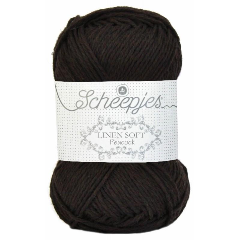 Scheepjes Linen Soft 601 - dark brown