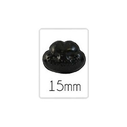 Tiernase (safety) - 15 mm - 5 stück