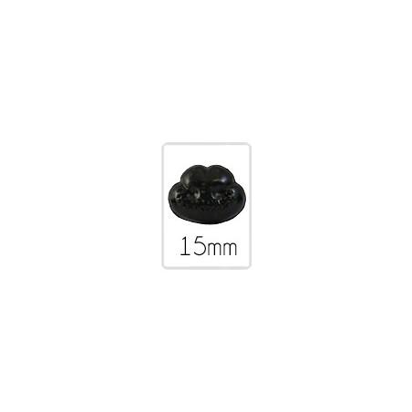 Nez animal (safety) - 15 mm - 5 pièces