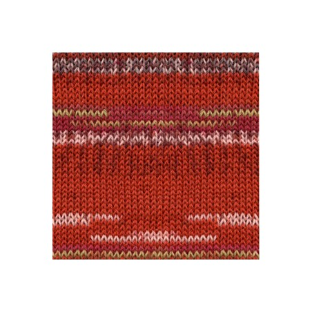 Drops Fabel print 159 - red chili