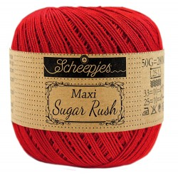 Scheepjes Maxi Sugar Rush 722 Red