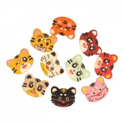 Painted wooden button 20mm...