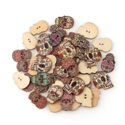 Geschilderde houten knoop...