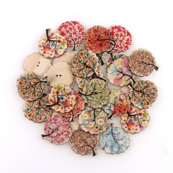 Painted wooden button 30mm...