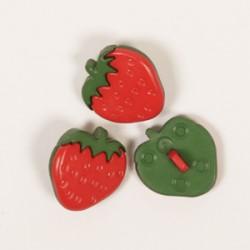 Erdbeere Knöpfe 18 mm nr 552
