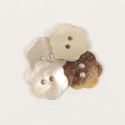 Drops Fleur (blanc) 15mm -n600