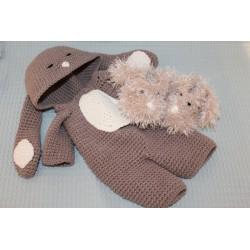 Onesie Rabbit Taupe - costume