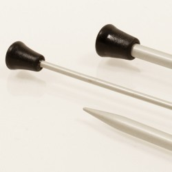 Drops Single pointed needles 2.5 mm - aluminium