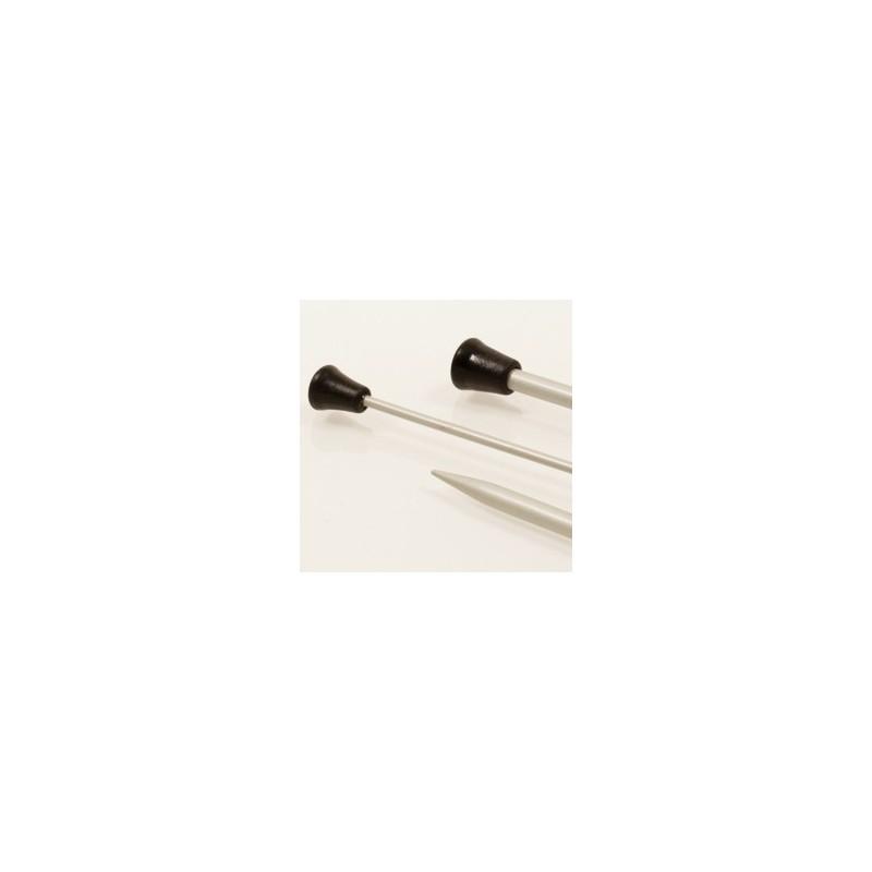Drops Single pointed needles 2.5 mm - aluminium
