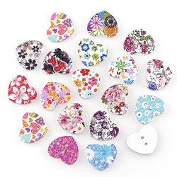 Painted wooden button 25mm...