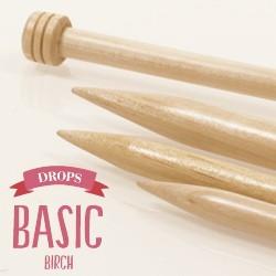Drops Aiguilles Droites 6 mm 35cm - bouleau