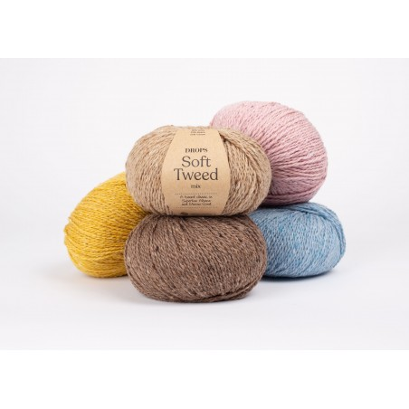 Drops Soft Tweed - all colours - buy online at Bizzy Lizzy!